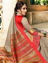 photo of Dark Beige Art Silk Function Wear Designer Saree With Zari Woven Border