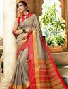 image of Dark Beige Art Silk Function Wear Designer Saree With Zari Woven Border