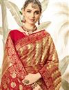 photo of Weaving Work Red Designer Art Silk Fabric Occasion Wear Saree