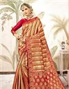 image of Weaving Work Red Designer Art Silk Fabric Occasion Wear Saree