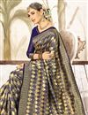 photo of Navy Blue Art Silk Festive Wear Weaving Work Saree