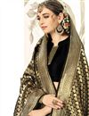 photo of Weaving Work Black Wedding Wear Art Silk Saree With Blouse