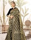 image of Weaving Work Black Wedding Wear Art Silk Saree With Blouse