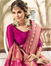 photo of Art Silk Pink Fancy Weaving Work Saree With Blouse