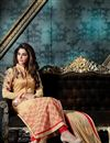 photo of Beige Color Party Wear Designer Salwar Kameez In Georgette And Banglori Silk Fabric