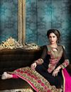 photo of Enigmatic Black Color Party Wear Anarkali Salwar Kameez In Georgette Fabric