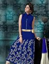 photo of Attractive Blue Color Anarkali Salwar Suit In Georgette Fabric