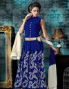 image of Attractive Blue Color Anarkali Salwar Suit In Georgette Fabric