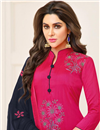 photo of Fancy Casual Style Dark Pink Patiala Dress In Cotton Fabric