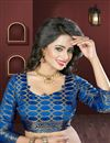 picture of Heavy Weaving Blue Color Party Wear Silk And Jacquard Saree