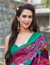 photo of Brilliant Multi Color Party Wear Printed Georgette Saree