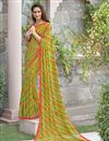 image of Brilliant Green Color Party Wear Printed Georgette Saree