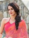 photo of Ravishing Pink Color Printed Saree In Georgette Fabric