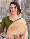 photo of Lovely Georgette Printed Saree In Orange Color