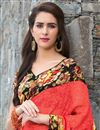 photo of Graceful Georgette Casual Printed Saree In Red Color