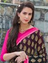 photo of Ravishing Black Color Printed Saree In Georgette Fabric