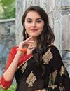 photo of Graceful Georgette Casual Printed Saree In Black Color