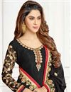 photo of Georgette Casual Wear Straight Cut Suit In Black With Embroidery Work