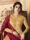 photo of Kritika Kamra Fancy Embroidered Georgette Function Wear Designer Sharara Suit In Beige