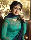 photo of Kritika Kamra Embroidered Teal Designer Function Wear Palazzo Salwar Kameez In Georgette