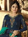 photo of Kritika Kamra Georgette Function Wear Designer Embroidered Navy Blue Palazzo Salwar Kameez