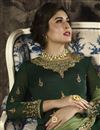 photo of Kritika Kamra Function Wear Dark Green Georgette Embroidered Palazzo Dress
