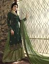 image of Kritika Kamra Function Wear Dark Green Georgette Embroidered Palazzo Dress
