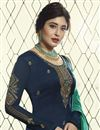 photo of Kritika Kamra Georgette Fancy Navy Blue Designer Embroidered Palazzo Suit