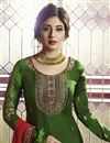 photo of Kritika Kamra Function Wear Green Designer Georgette Embroidered Palazzo Dress