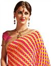 photo of Comforting Georgette Designer Printed Saree With Attractive Border
