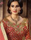 photo of Modish Cream Color Designer Festive Wear Embroidered Saree In Dhupion And Silk Fabric