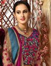 photo of Alluring Pink Color Embroidered Dhupion And Silk Saree With Designer Banglori Silk Unstitched Blouse