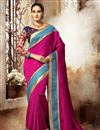 image of Alluring Pink Color Embroidered Dhupion And Silk Saree With Designer Banglori Silk Unstitched Blouse