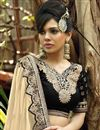 photo of Brasso And Chiffon Fabric Festive Wear Sarree In Cream Color With Beautiful Designs On Blouse