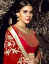 photo of Red Color Function Wear Saree With Beautiful Embroidery Work On Chiffon Fabric