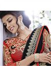 photo of Black Color Georgette Designer Embroidered Saree with Blouse