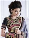 photo of Grey Color Crepe-Jacquard Designer Embroidered Saree with Blouse
