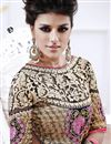 photo of Designer Pink-Purple Color Embroidered Saree with Dhupion-Net Blouse