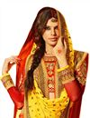 photo of Orange Color Wedding Wear Embroidered Silk Fabric Designer Lehenga Choli