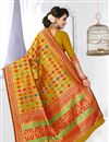 photo of South Indian Style Designer Banarasi Silk Saree In Mustard Color