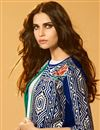 photo of Classy Blue Color Art Silk Fabric Party Style Indowestern Girls Jacket