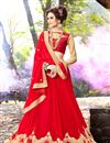 photo of Exhilarating Red Color Embroidered Georgette Designer Saree
