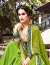 photo of Dazzling Green Color Designer Lycra And Georgette Party Wear Saree With Matching Blouse