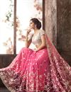 photo of Dazzling Pink Color Party Wear Embroidered Saree With Designer Blouse