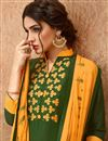 photo of Festive Wear Cotton Designer Palazzo Suit In Green With Embroidery