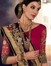 photo of Pink And Wine Color Designer Saree With Embroidery Work In Georgette And Net Fabric