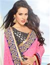 photo of Festive Wear Pink And Grey Color Brasso Fancy Designer Saree With Lace Border