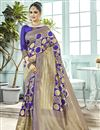 image of Designer Function Wear Art Silk Fancy Blue Weaving Work Saree