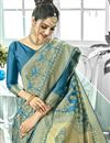 photo of Traditional Function Wear Art Silk Weaving Work Fancy Saree