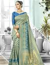 image of Traditional Function Wear Art Silk Weaving Work Fancy Saree